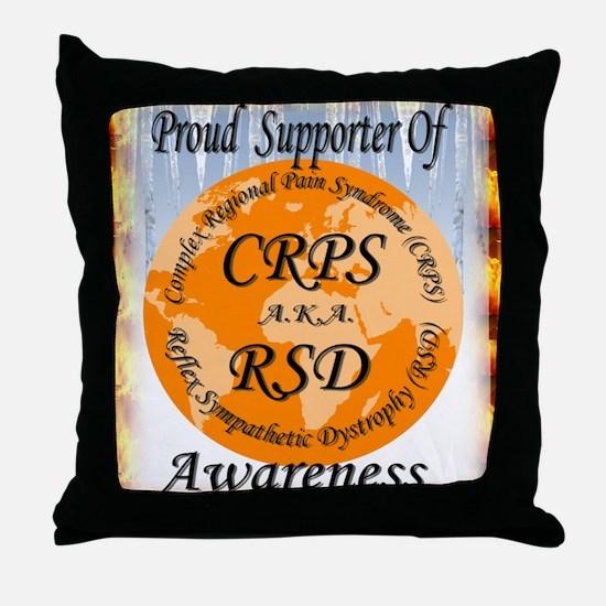 Proud Supporter of CRPS RSD Awareness Throw Pillow
