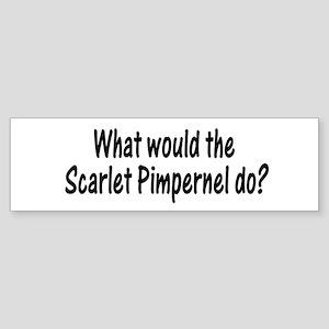Scarlet Pimpernel Bumper Sticker