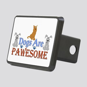 Dogs Are Pawesome 3 Rectangular Hitch Cover