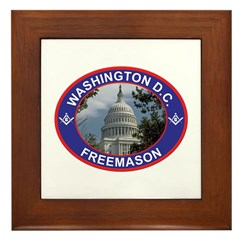 Washington D.C. Freemason Framed Tile