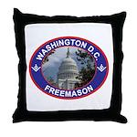 Washington D.C. Freemason Throw Pillow