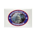 Washington D.C. Freemason Rectangle Magnet