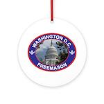 Washington D.C. Freemason Ornament (Round)