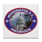 Washington D.C. Freemason Tile Coaster