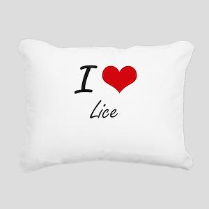 I Love Lice Rectangular Canvas Pillow
