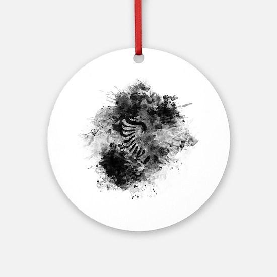 Funny Alba Round Ornament