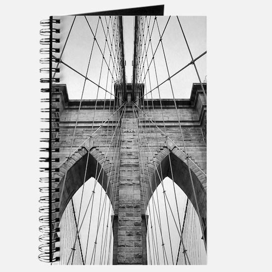 Brooklyn Bridge New York City close up arc Journal