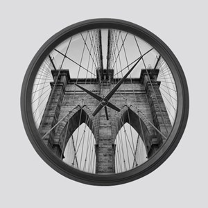 Brooklyn Bridge New York City clo Large Wall Clock