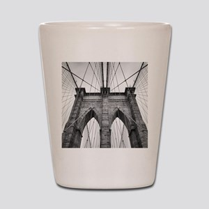 Brooklyn Bridge New York City close up Shot Glass