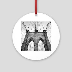 Brooklyn Bridge New York City close Round Ornament