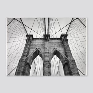 Brooklyn Bridge New York City close 5'x7'Area Rug
