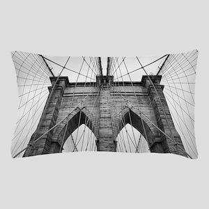 Brooklyn Bridge New York City close up Pillow Case
