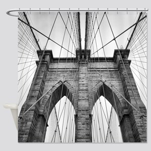 Brooklyn Bridge New York City close Shower Curtain