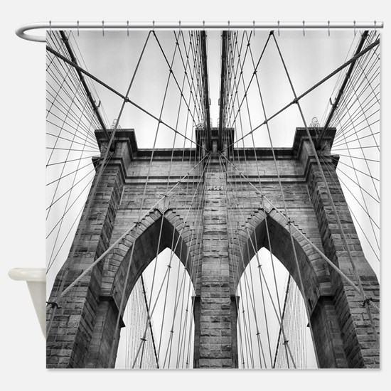 Brooklyn Bridge New York City close Shower Curtain