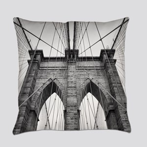 Brooklyn Bridge New York City clos Everyday Pillow