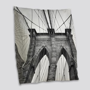 Brooklyn Bridge New York City Burlap Throw Pillow