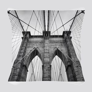 Brooklyn Bridge New York City Woven Throw Pillow
