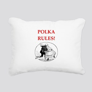 polka Rectangular Canvas Pillow
