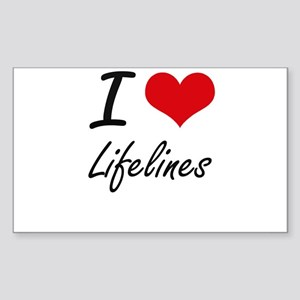 I Love Lifelines Sticker