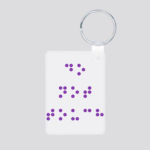 Do Not Touch in Braille (Purple) Keychains
