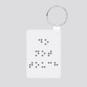 Do Not Touch in Braille (Grey) Keychains