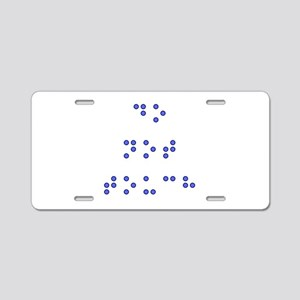 Do Not Touch in Braille (Bl Aluminum License Plate