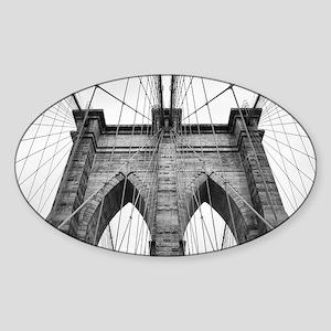 Brooklyn Bridge New York City close up arc Sticker