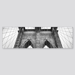 Brooklyn Bridge New York City close Bumper Sticker