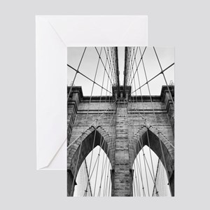 Brooklyn Bridge New York City close Greeting Cards