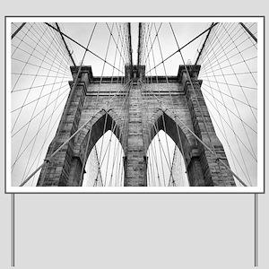 Brooklyn Bridge New York City close up a Yard Sign