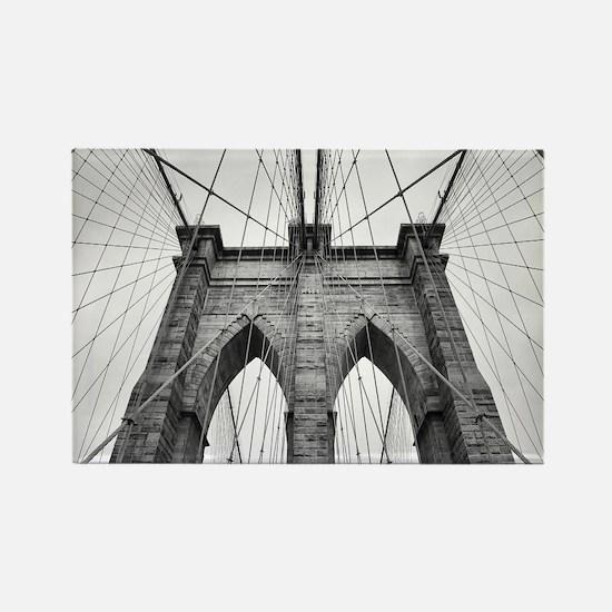 Brooklyn Bridge New York City close up arc Magnets