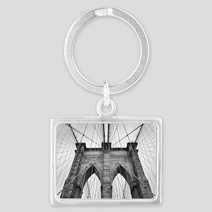Brooklyn Bridge New York City close up a Keychains