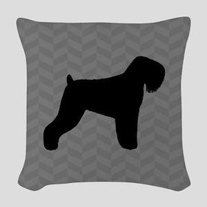 Black Russian Terrier Woven Throw Pillow