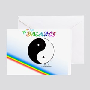 Yin Yang Sign Greeting Card