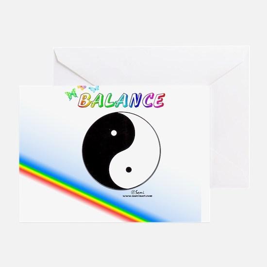Yin Yang Sign Greeting Card