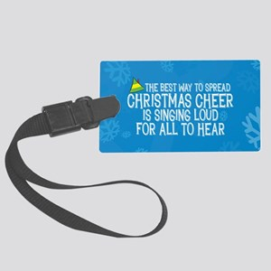 Spread Christmas Cheer Large Luggage Tag