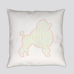 Pastel Poodle Everyday Pillow