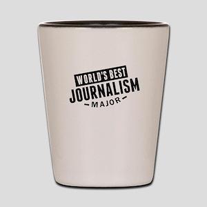 Worlds Best Journalism Major Shot Glass