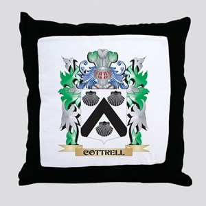 Cottrell Coat of Arms - Family Crest Throw Pillow
