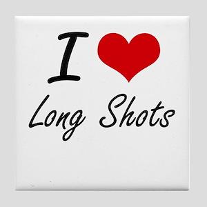 I Love Long Shots Tile Coaster