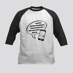 Disappear Quote Kids Baseball Jersey