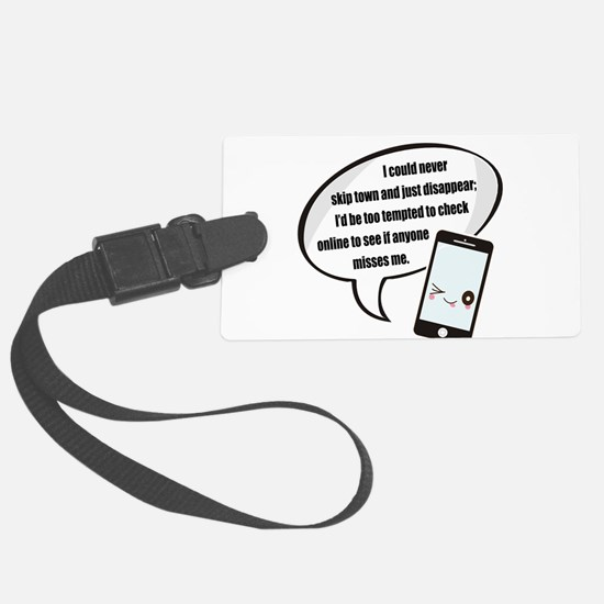 Disappear Quote Luggage Tag