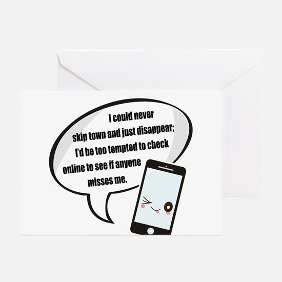Disappear Quote Greeting Cards (Pk of 20)