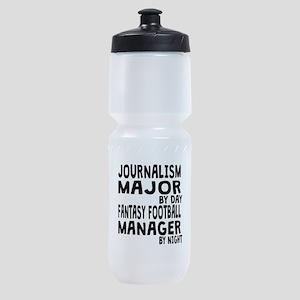 Journalism Major Fantasy Football Sports Bottle