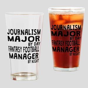 Journalism Major Fantasy Football Drinking Glass