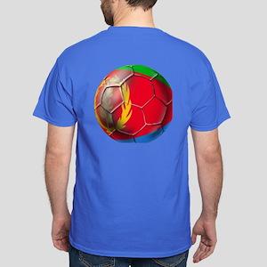 Eritrea Soccer Ball Dark T-Shirt