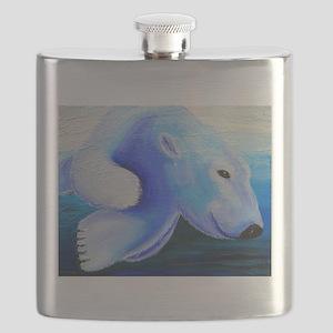 Swimming Polar Bear Flask