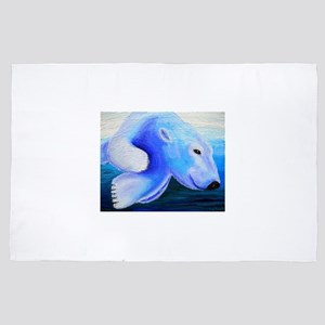 Swimming Polar Bear 4' x 6' Rug