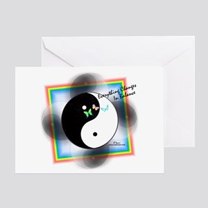 Yin Yang Change Greeting Card