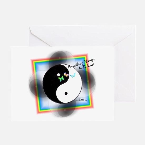 Yin Yang Change Greeting Card